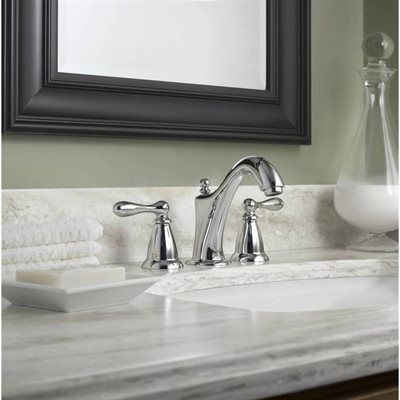 Beau Moen CA84440 Caldwell Chrome 2 Handle Widespread WaterSense Bathroom Sink  Faucet (Drain Included)