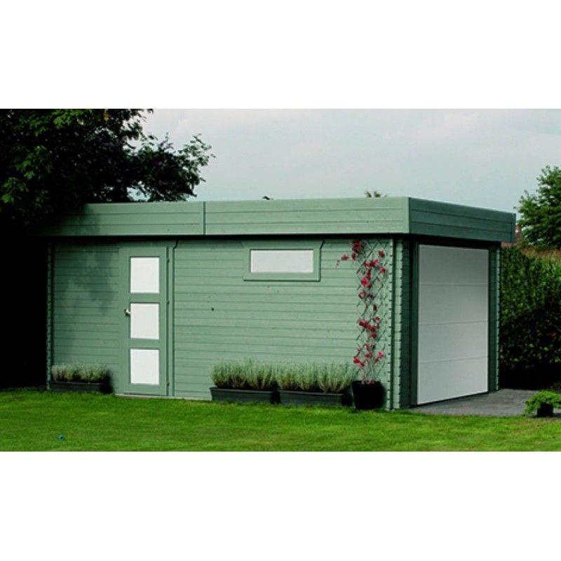 garage bois, abris voiture, construction bois #garagebois - fabricant de garage prefabrique