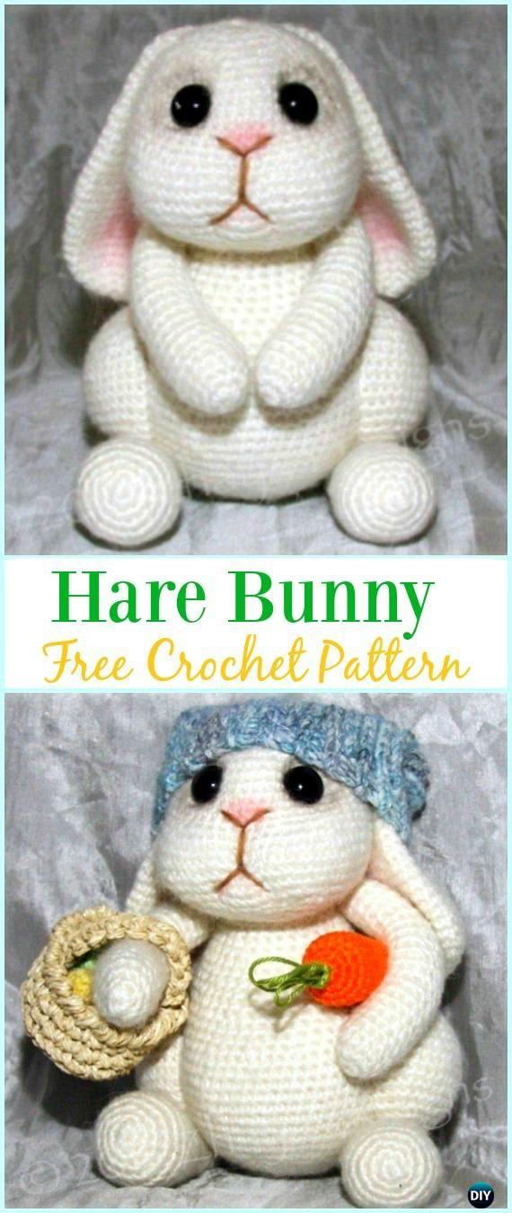 Crochet Amigurumi Bunny Toy Free Patterns Instructions | Dolls ...