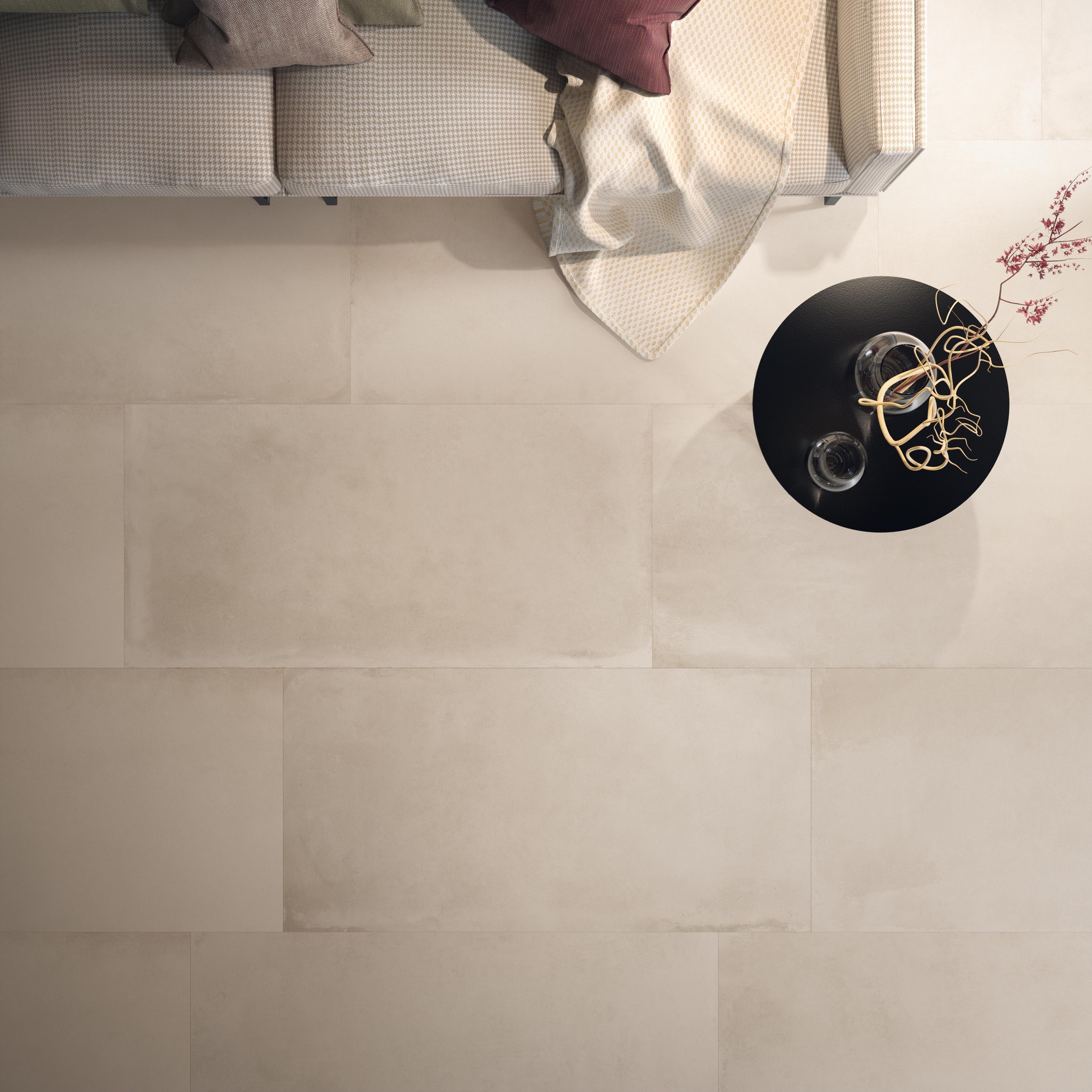 Pavimento living. Soggiorno con piastrelle della collezione ART ...