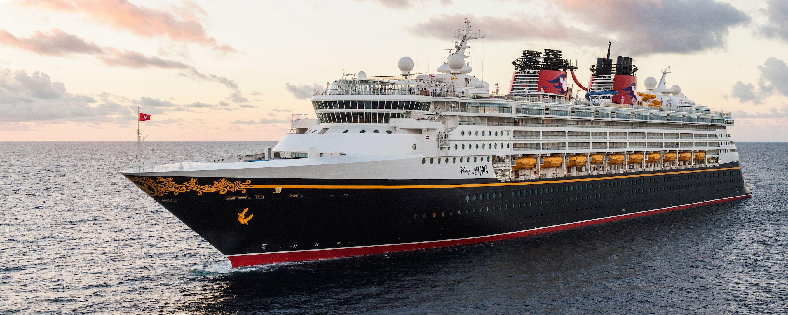 The Disney Magic ocean liner sailing the open seas