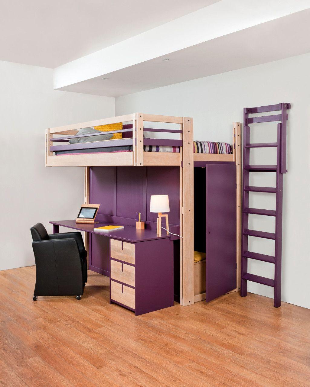 lit mezzanine rangement cgmrotterdam. Black Bedroom Furniture Sets. Home Design Ideas