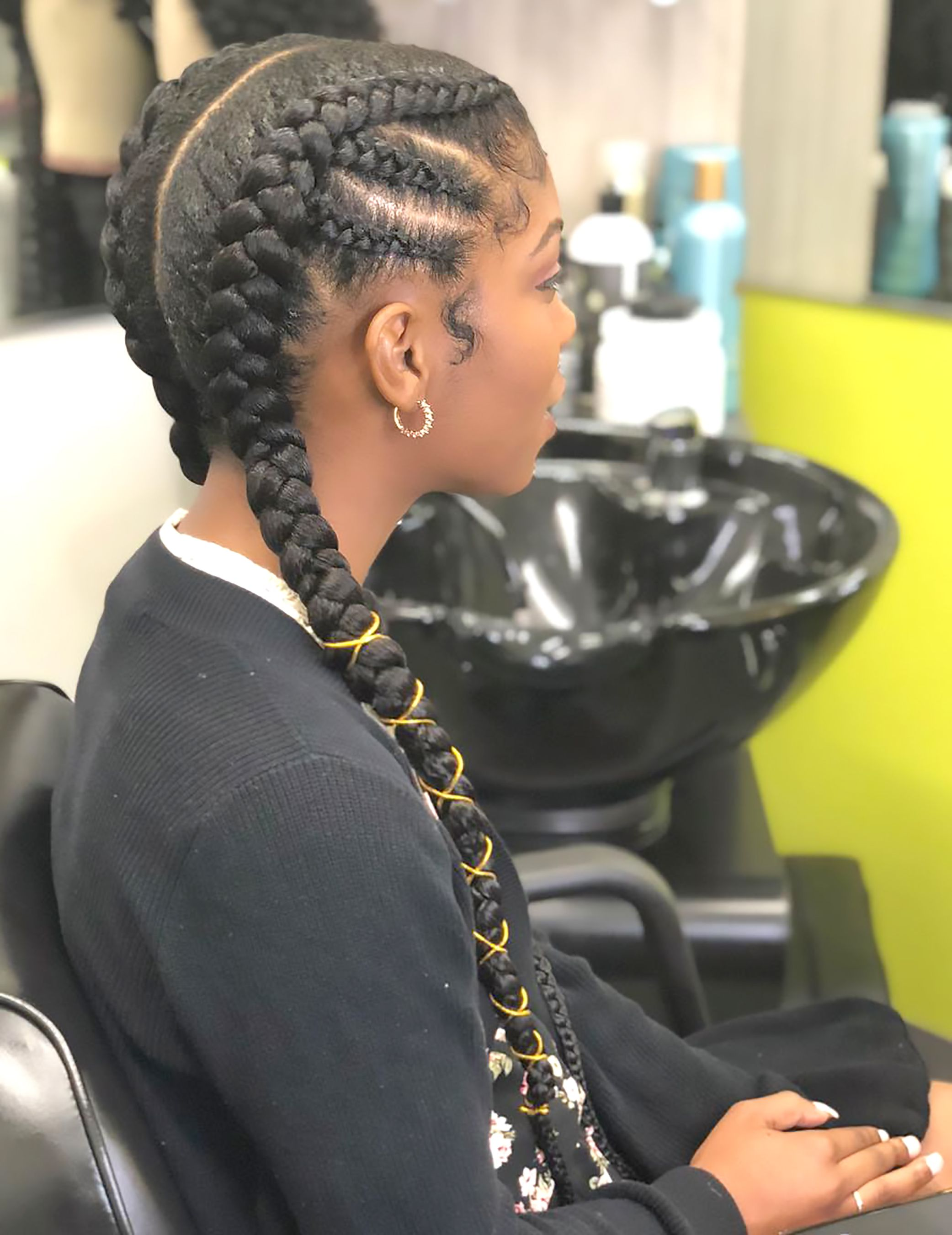 Pin On Cornrows Hairstyles For African American Women