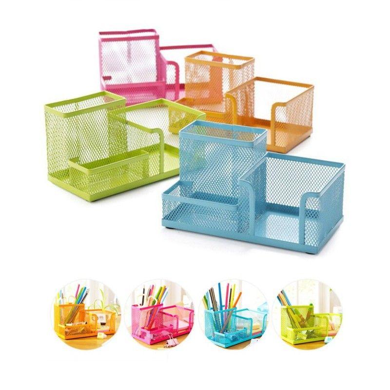 office storage baskets. New Metal Desktop Storage Box Organiser Drawer Pen Card Office Stationery Holder | #StorageDrawers Baskets