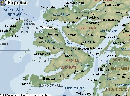 Map Of Isle Of Mull Scotland Travel Sightseeing Mulled