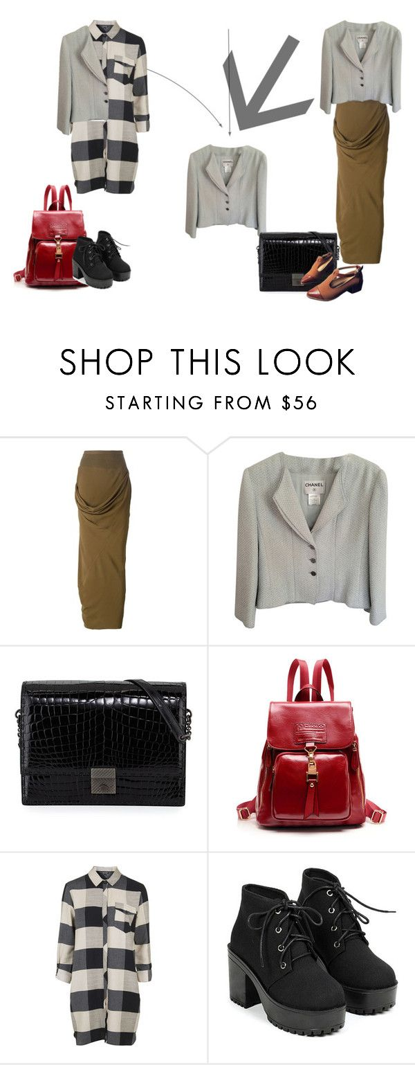 """""""this great chanel jacket"""" by verajf on Polyvore featuring Rick Owens, Chanel, Bottega Veneta and Topshop"""