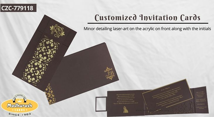 Customized Invitation Cards - Minor detailing laser-art on the ...