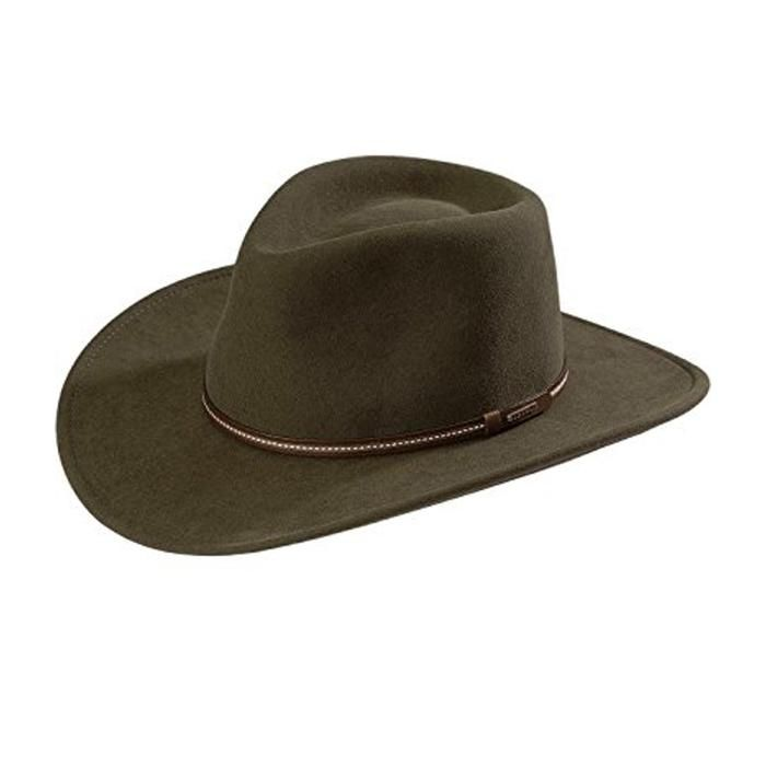 Stetson Men S Gallatin Sage Green Crushable Packable Wool Cowboy Hat Made In Usa Stetson Hat Crushable Hat Hats