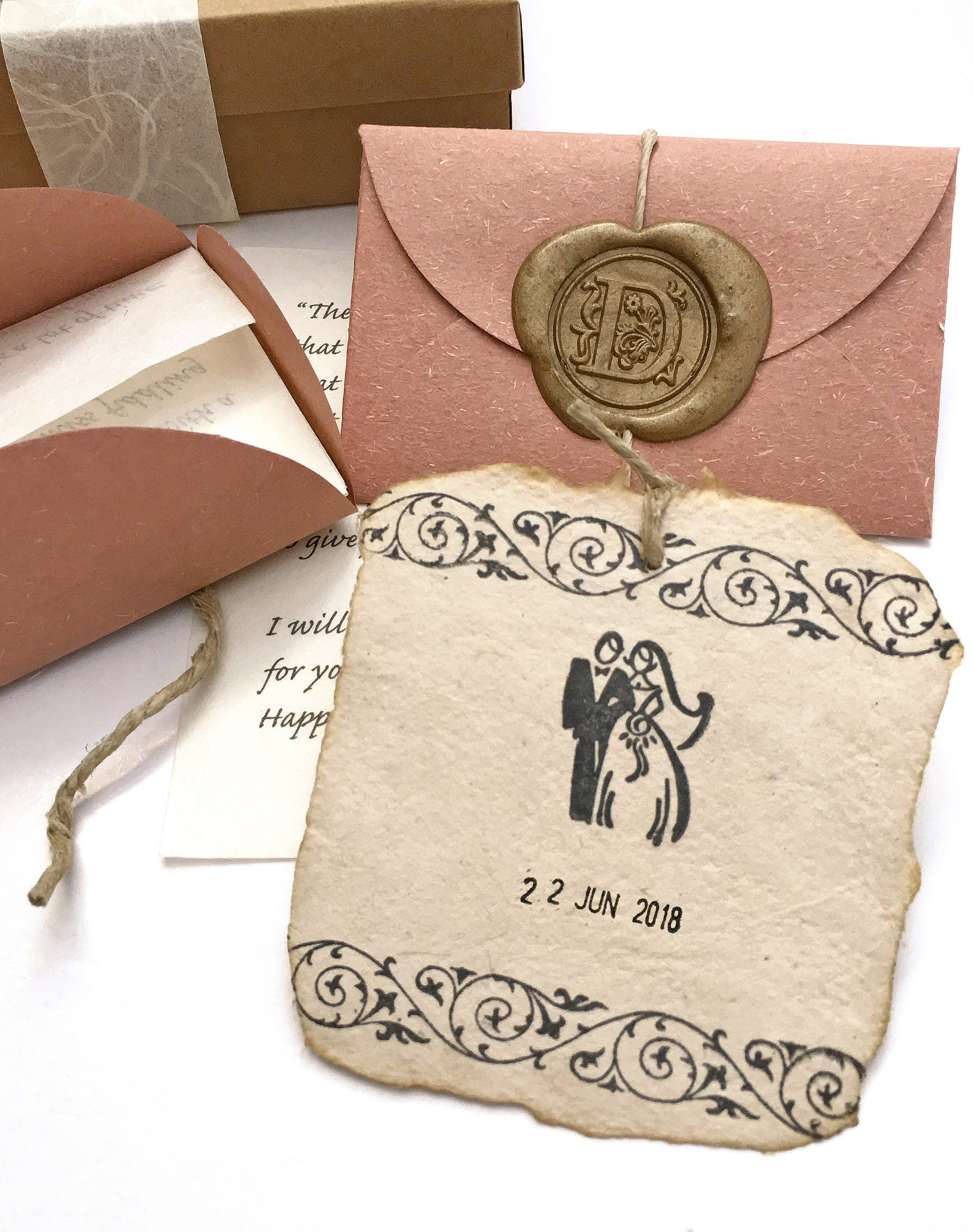 Sustainable 1st year wedding anniversary gift Personalized
