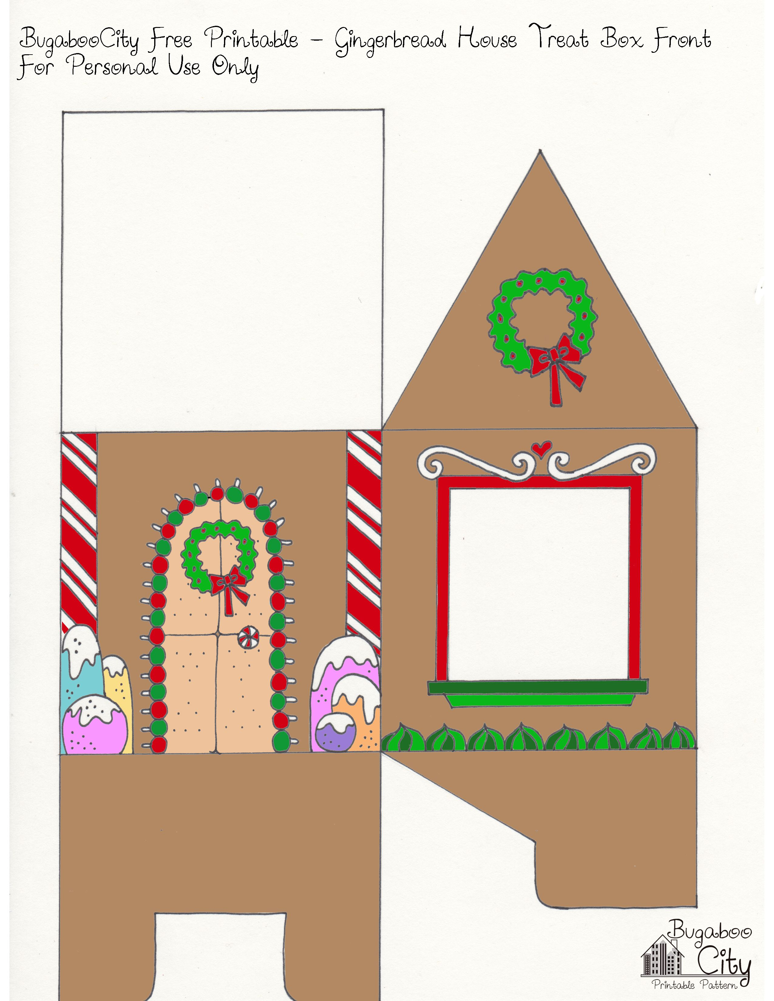 Gingerbread house free printables - Gingerbread House Printable Front Jpg 2550 3300