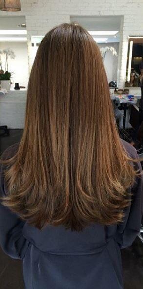 Pin By Shae Olson On Long Horizontal Layers Rebonded Hair Hair Styles Long Layered Hair