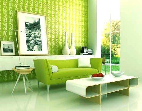 GREEN DECOR | Green interior design, Green sofa and Interiors