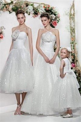 Ball Strapless Flower  Wedding Dress