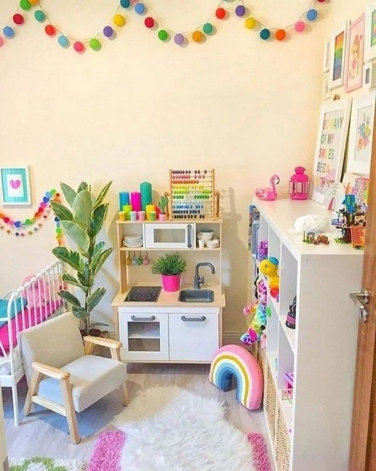 27 Stunning Basement Playroom Ideas For Kids 12 Small Room Bedroom Toddler Rooms Toddler Girl Room