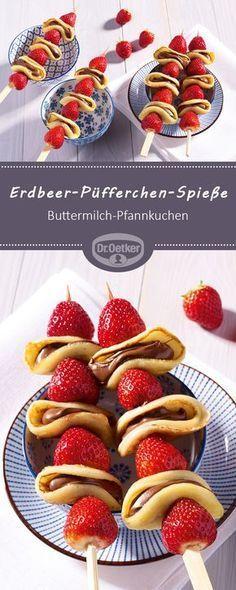 Erdbeer-Püfferchen-Spieße #chocolatedessertrecipes