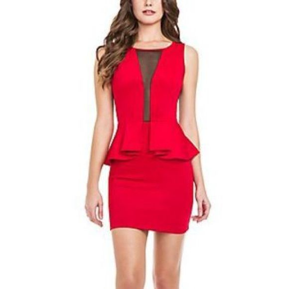 Guess peplum dress I only have the red one. Has not been worn. Guess Dresses Mini