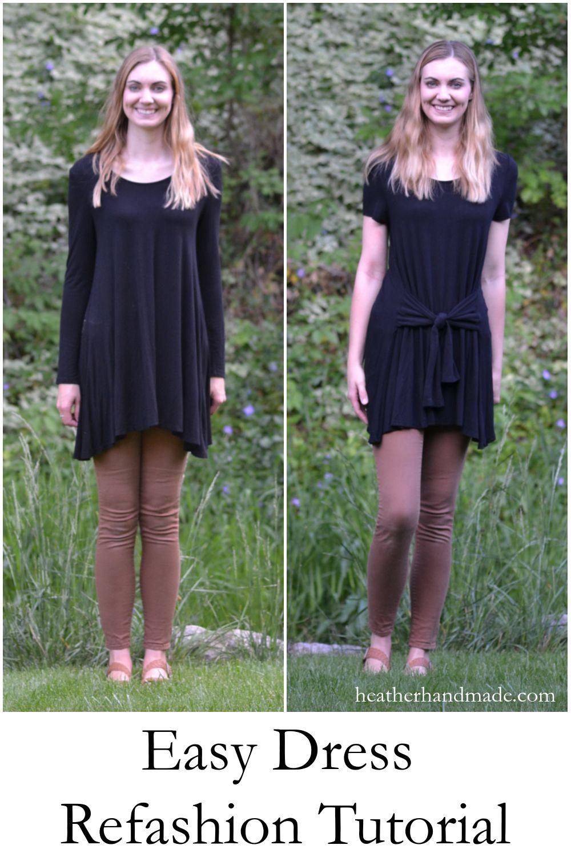 e577d68db4 Easy Dress Refashion Tutorial | Easy Beginner Sewing Tutorials ...