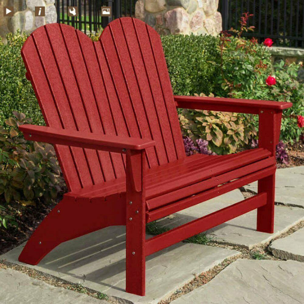 Striking Red Outdoor Bench In 2020 Outdoor Bench Outdoor Potting Bench Outdoor