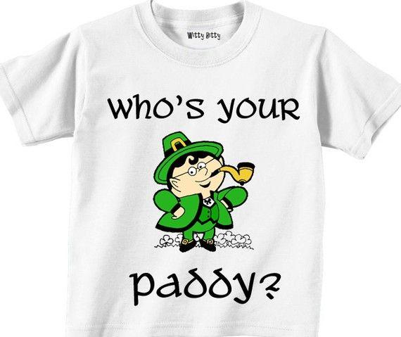 St. Patrick's Day - soooo need this for my nephew! We call him Paddy!