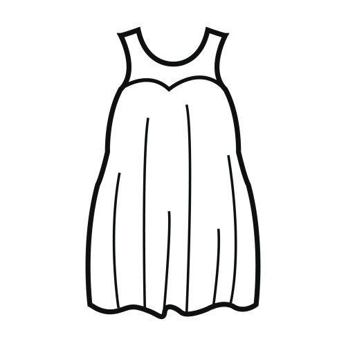 Fotos de vestidos para colorear