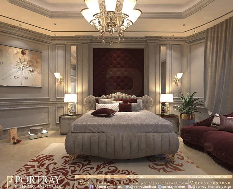Pin On Luxury Bedrooms غرف نوم فخمة و راقية