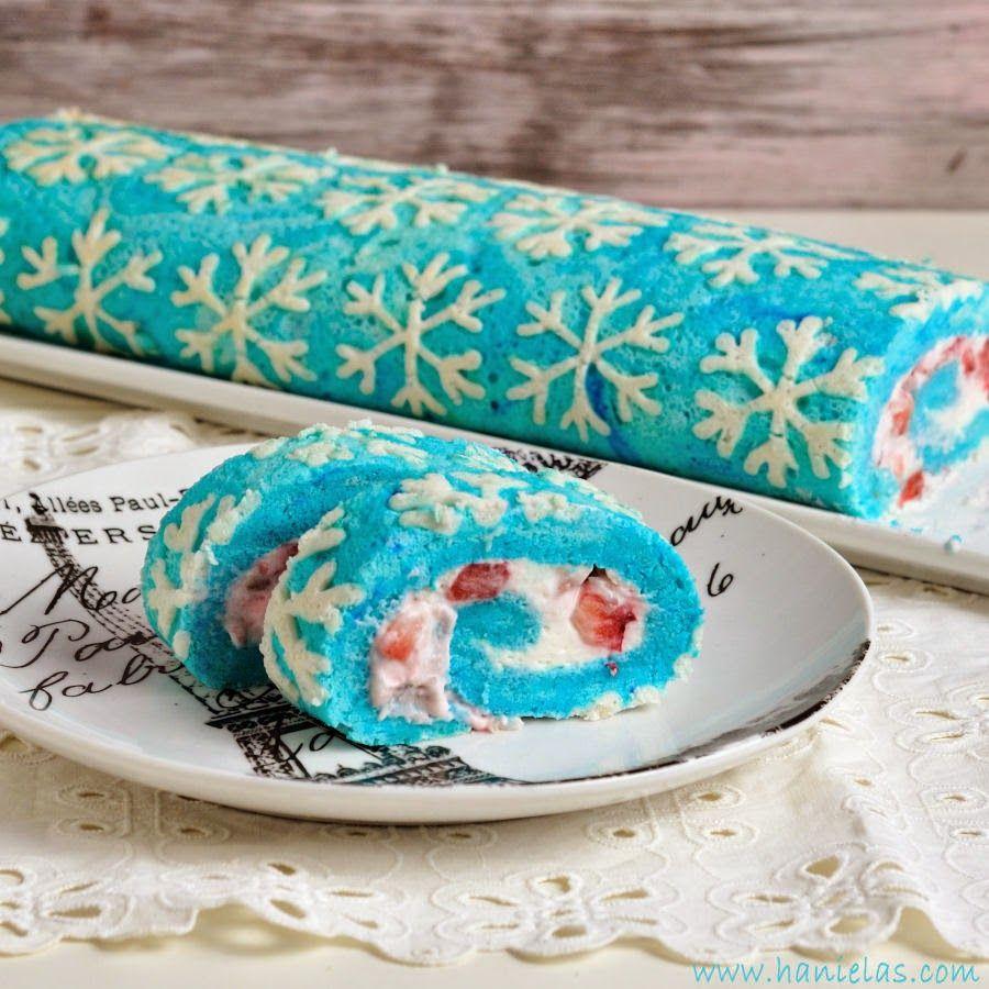 Snowflake Cake Roll #rollcake