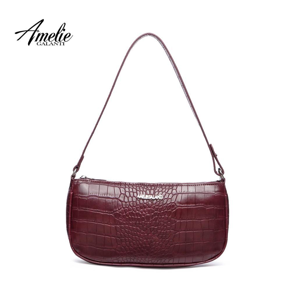 Buy Stylish underarm bag retro crocodile-print handbag bag