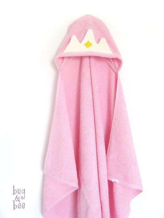 cd45c1c7e Princess Crown Hooded Towel