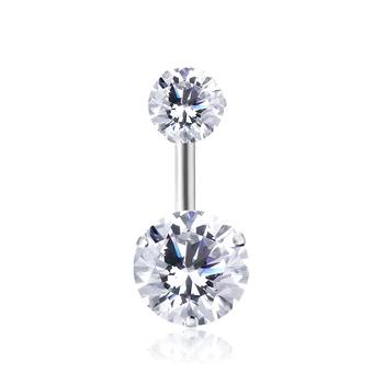 Piercing tabique con circonita cristales clicker anillo piercing oro Helix