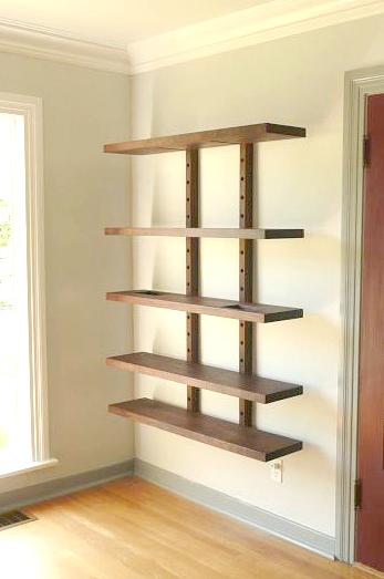 Thru Block Wall Mounted Shelving By Wuda With Images Wall Mounted Bookshelves Shelves Wall Bookshelves