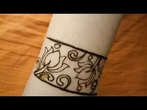 3d Lotus Flower Leg Henna Mehndi Design Tutorial With Negative