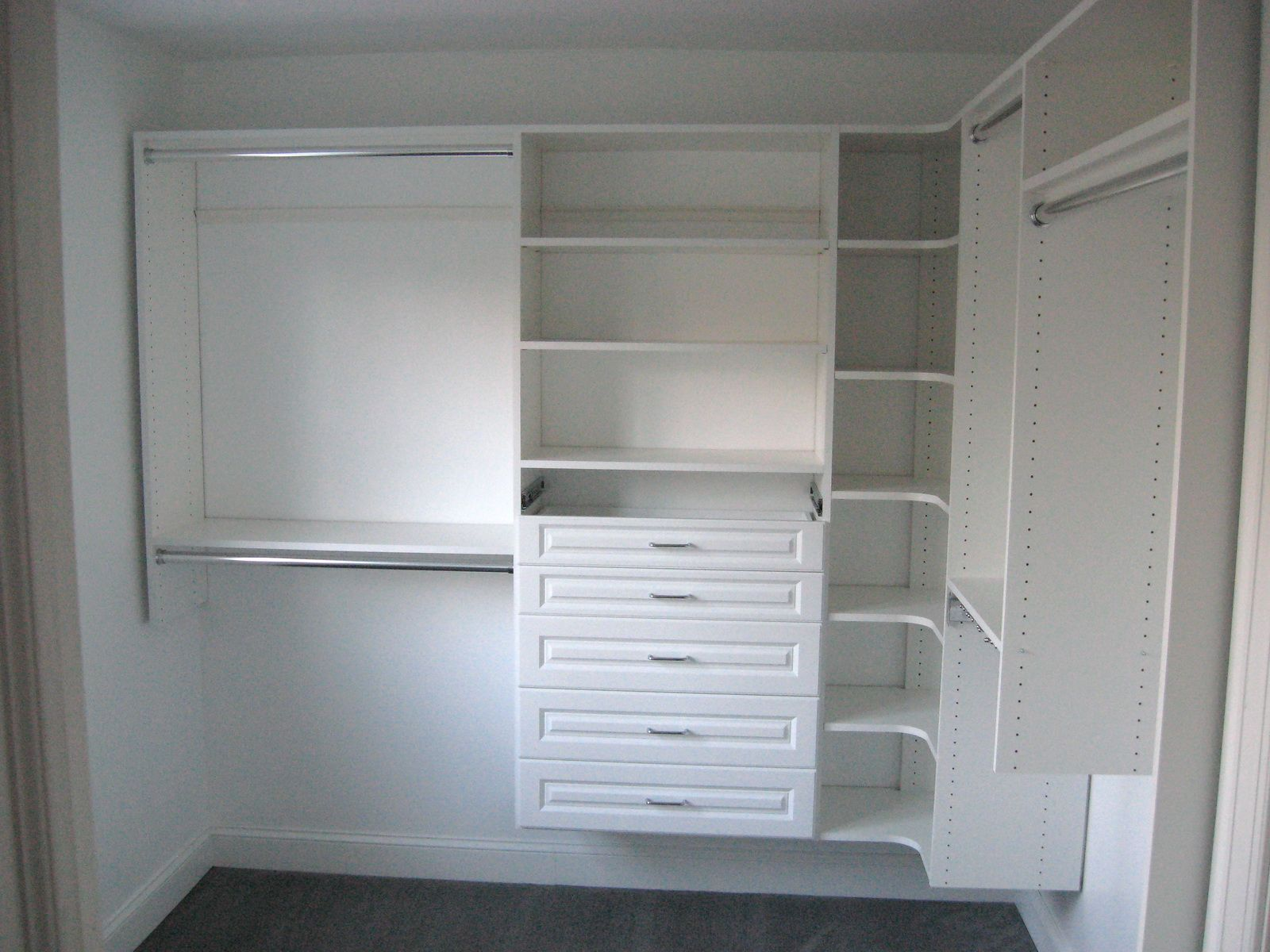 Metal Closet Gray Metal Closet Shelving Easyclosets Stuff To