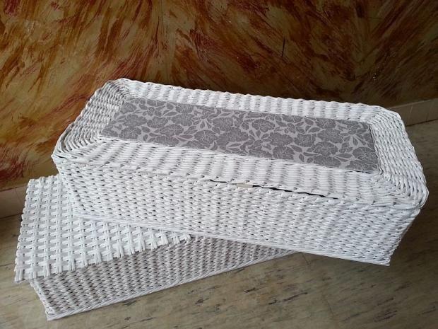 56bf69c23 Veľké pletené koše z papiera - mamina tvorila | Paplet - papierové ...