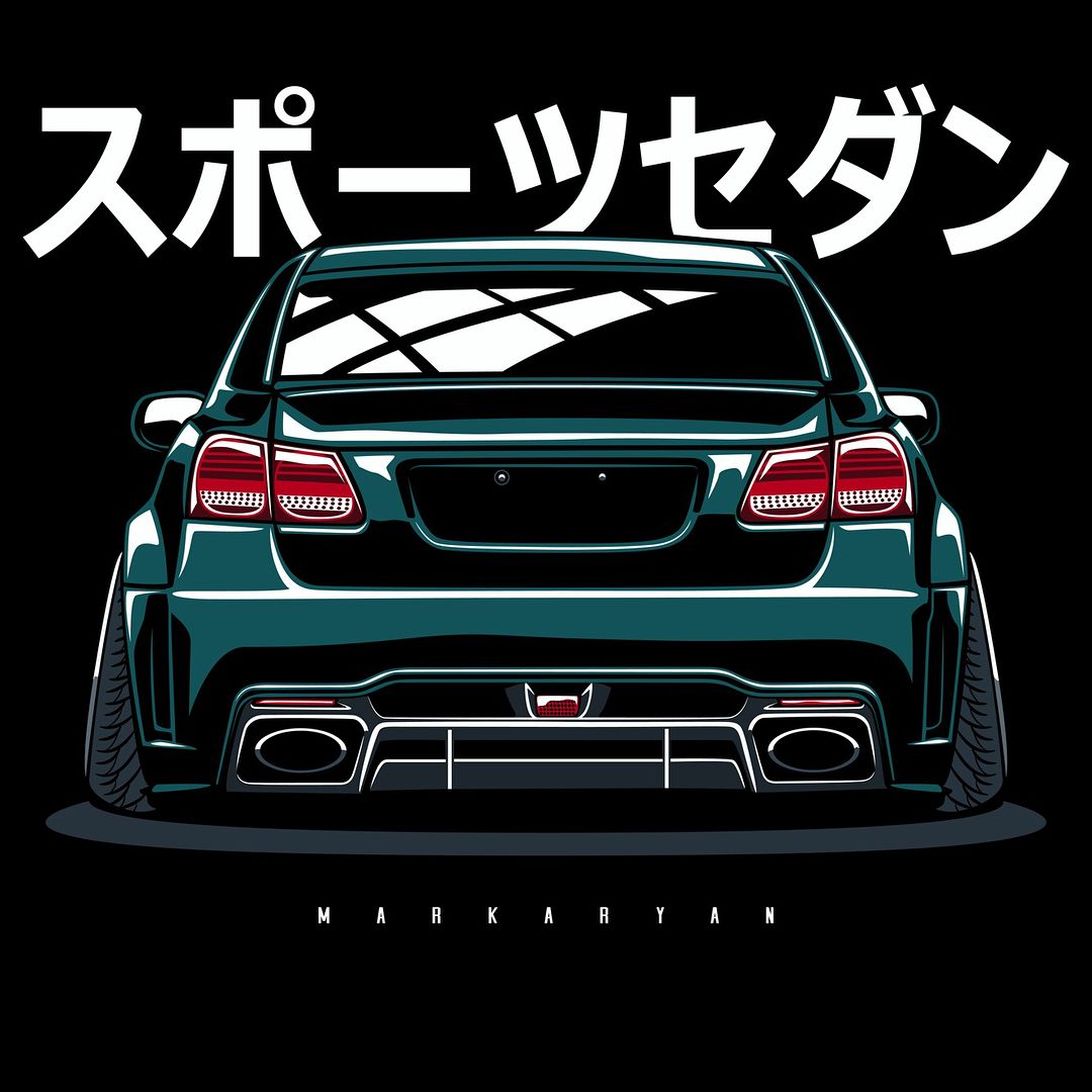 Lexus GS/ Toyota Aristo. T-shirts, Covers, Stickers