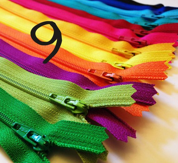 Pin By Molly Boyd On Tattoo Ideas: 9 Inch Zippers, Brights, TWELVE YKK Zips, Black, Royal