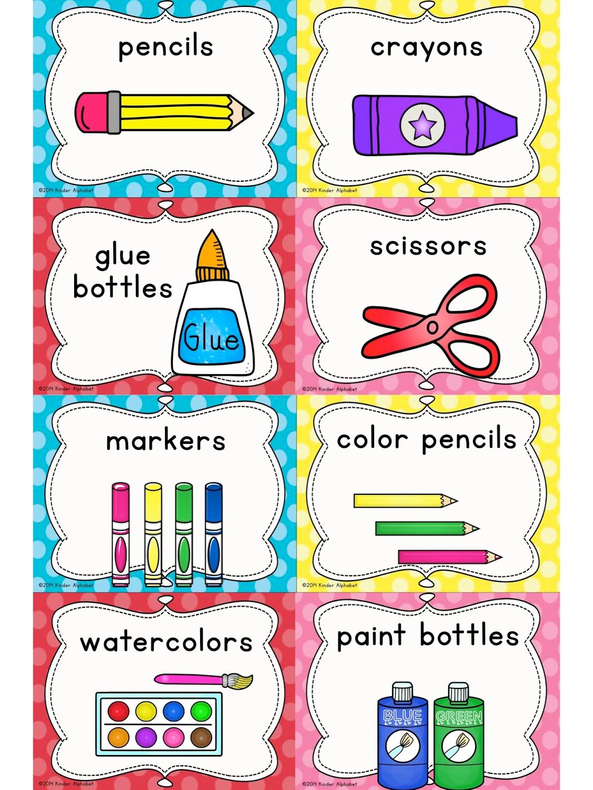 Classroom Labeling Ideas ~ Kinder alphabet cvcc clip art and word work freebies