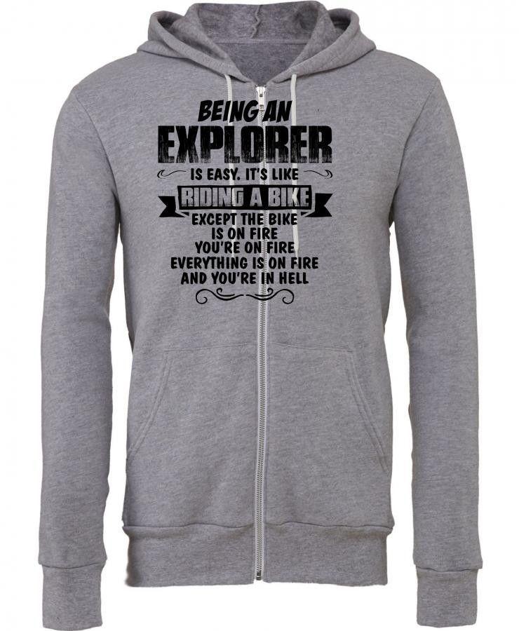being an explorer copy Zipper Hoodie