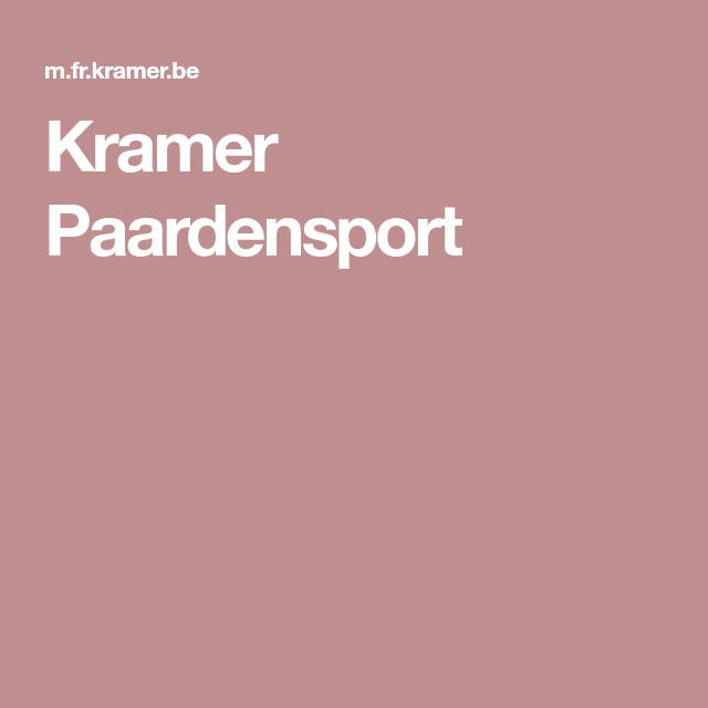 kramer paardensport | bricolage | pinterest