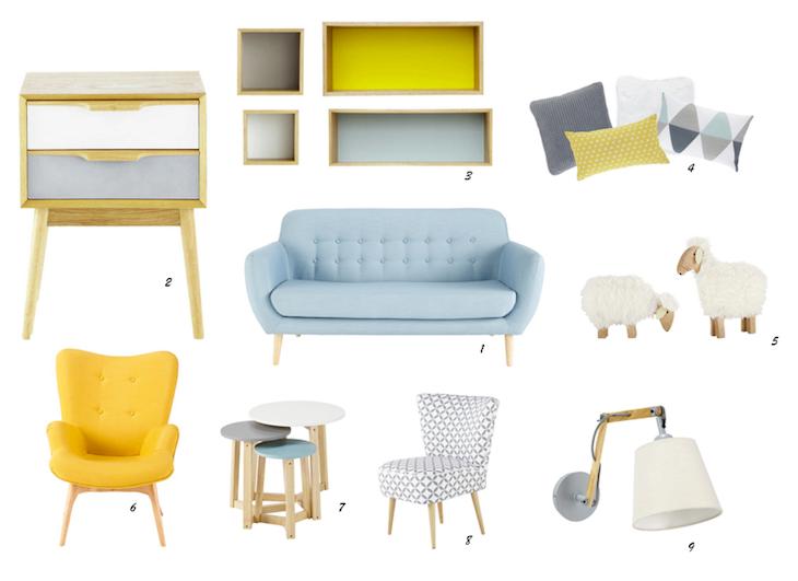 Le Style Scandinave Chez Maison Du Monde Izidora Pinterest - Canapé et fauteuil scandinave