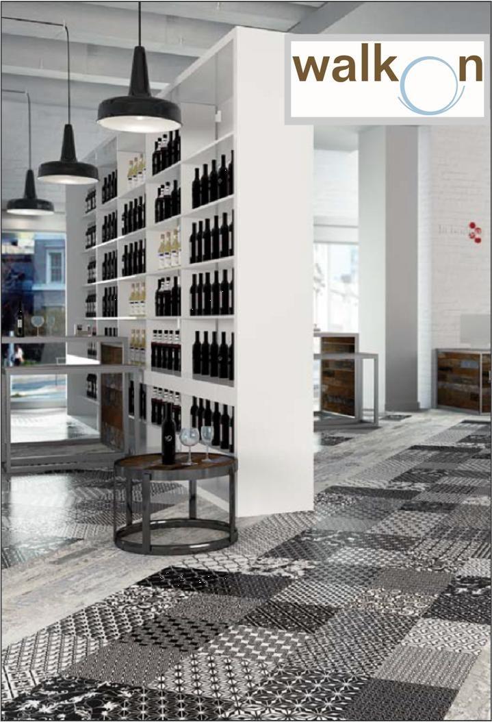 Moving Black Natural Pattern At Walkon Tile Tile For Living