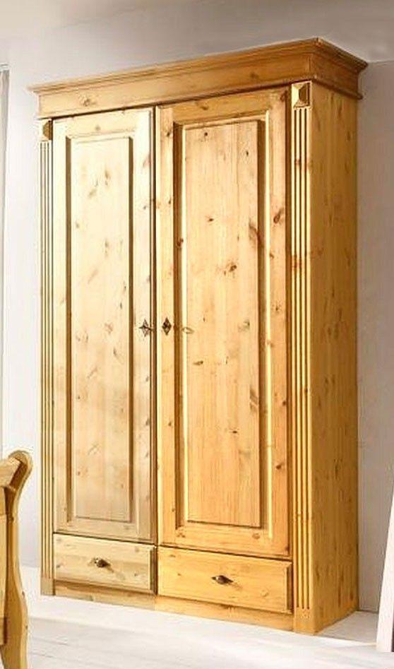 massivholz kleiderschrank kiefer massiv 2t rig gelaugt landhausstil sovrum kleiderschrank. Black Bedroom Furniture Sets. Home Design Ideas