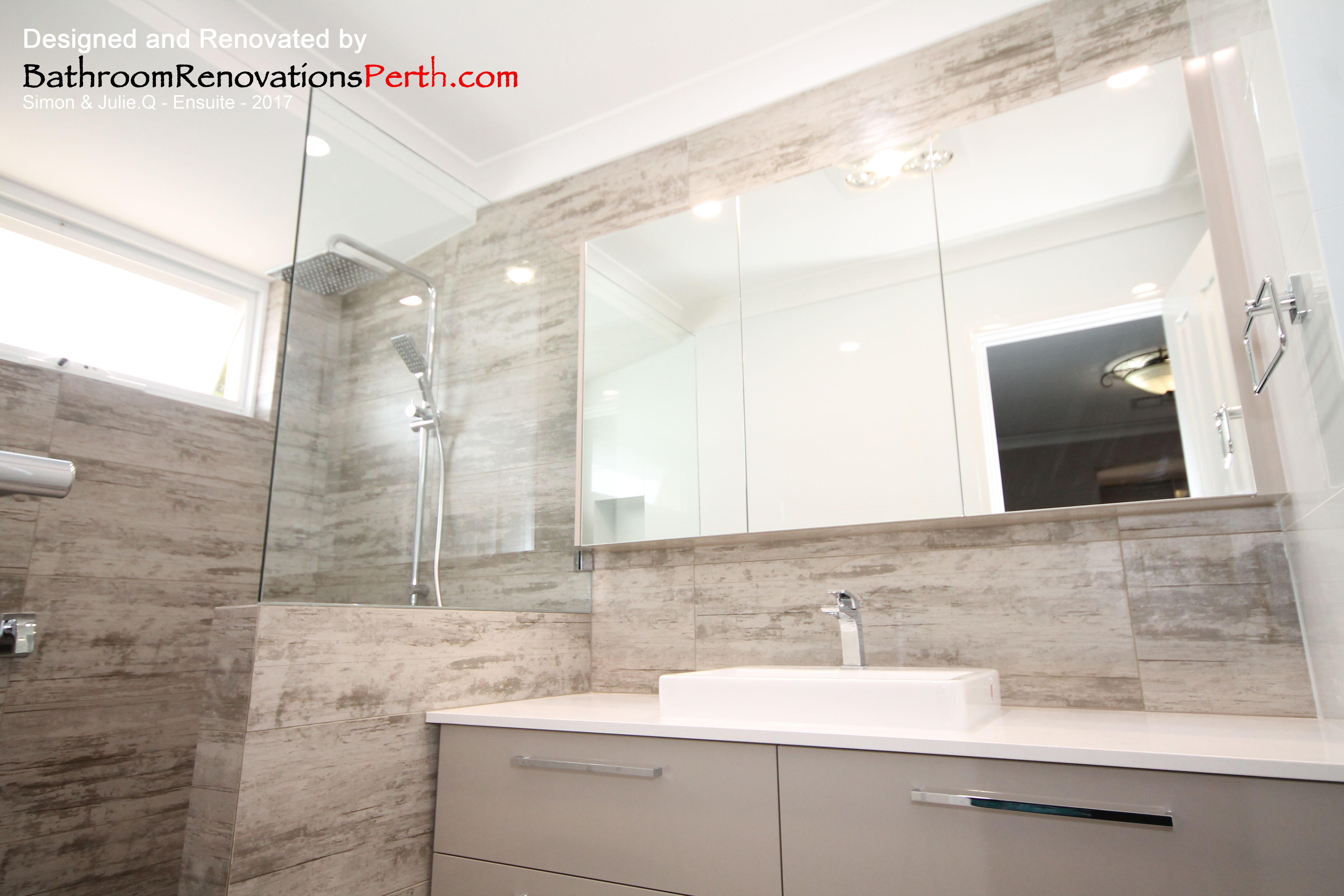 2017 Ensuite designed & renovated by Bathroom Renovations Perth www ...