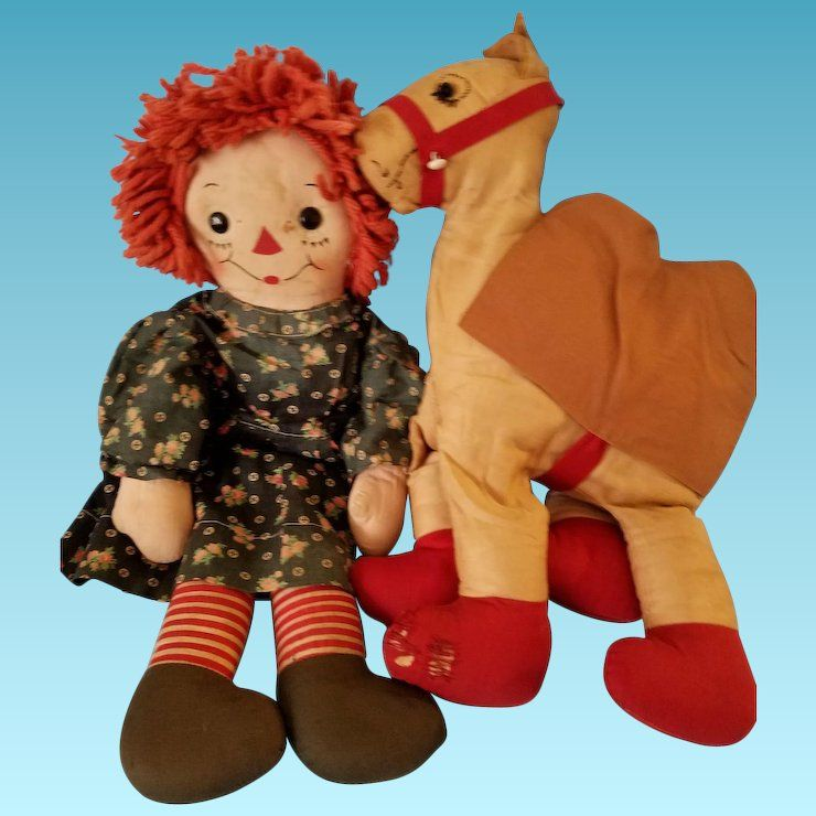 Vintage Raggedy Ann Camel with Wrinkled Knees Stuffed Animal Toy Pattern