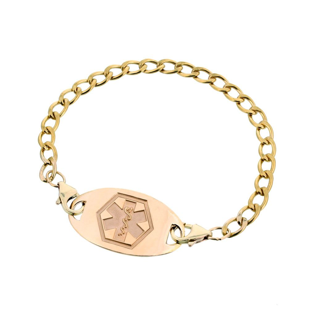 10k Gold Filled Classic Mingle Medical Jewelry Medic Alert Bracelets Interchangeable Bracelet