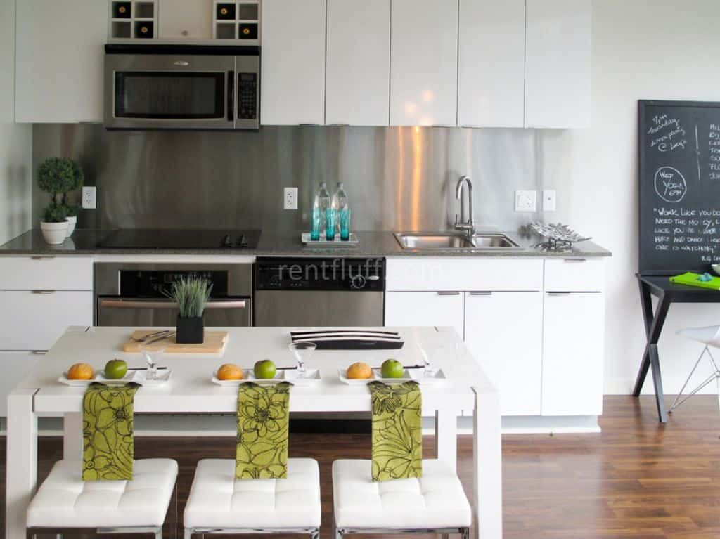 Seamless Stainless Steel Kitchen Backsplashes For Your Home Stainless Steel Backsplash Kitchen Design Modern