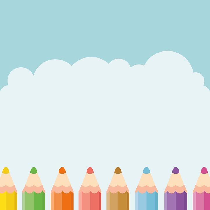Free Image On Pixabay Pencil Sky Kids Cute Design Kids Background School Wall Art Powerpoint Background Free