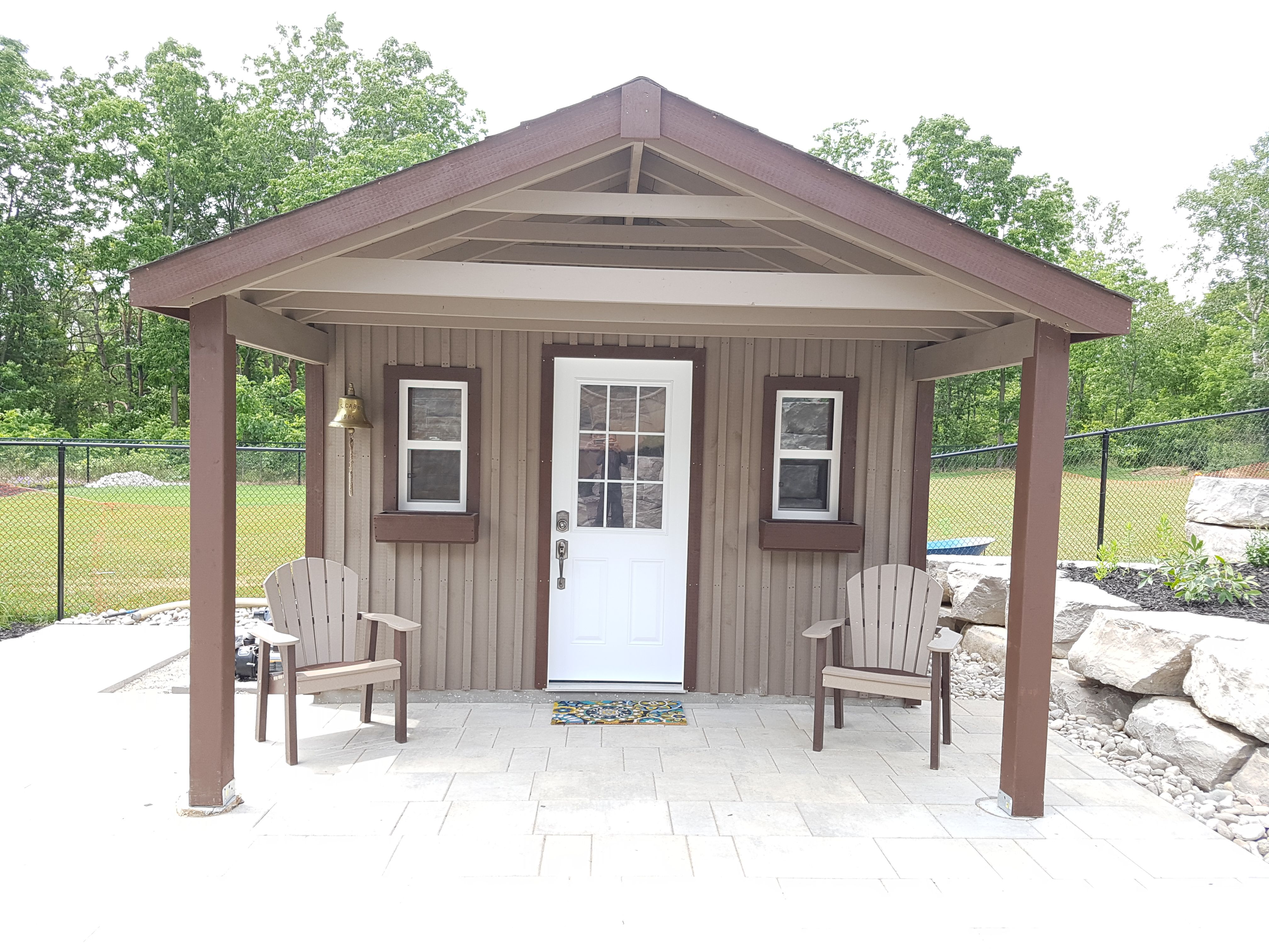 12x12 With A 6 Porch High Board And Batten Backyard Sheds Custom Sheds Shed