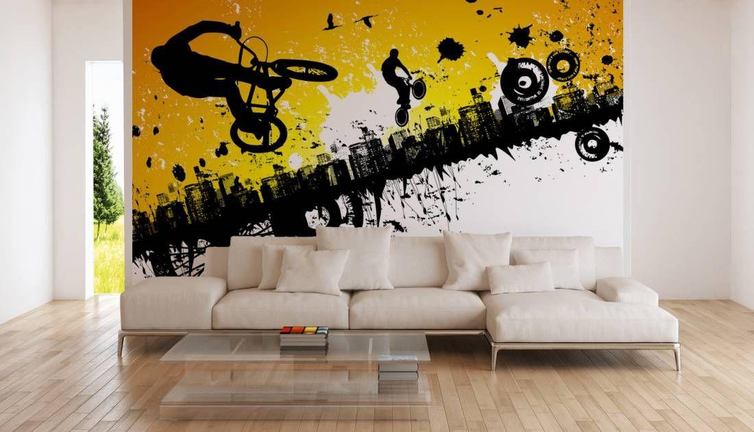 Tapeten im Wohnzimmer; Fototapete «Fahrrad Sport» DD107164 - tapeten wohnzimmer