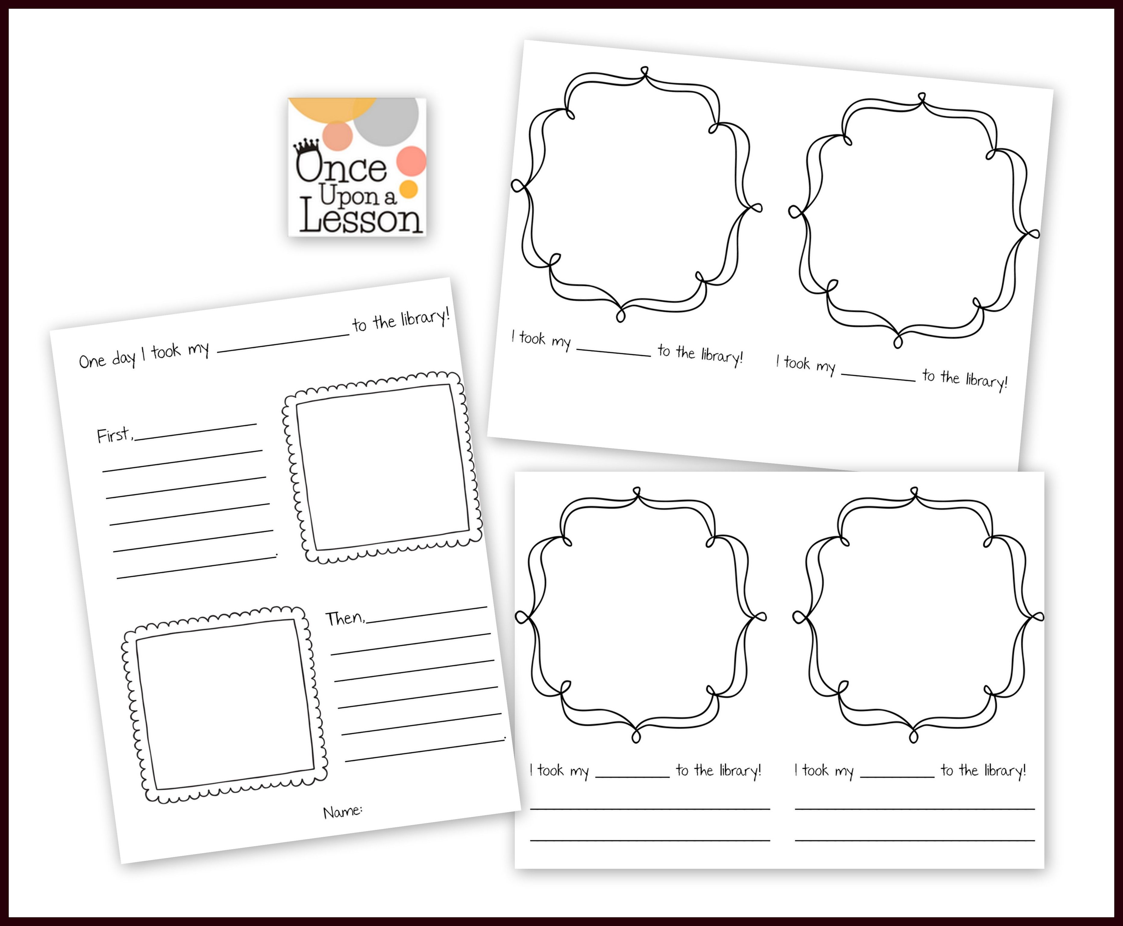Free Writing Activity From Once Upon A Lesson