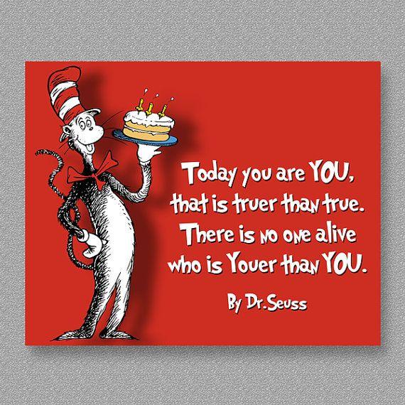 Dr. Seuss Quote Birthday Wall Art Print Printable By CustomBazaar